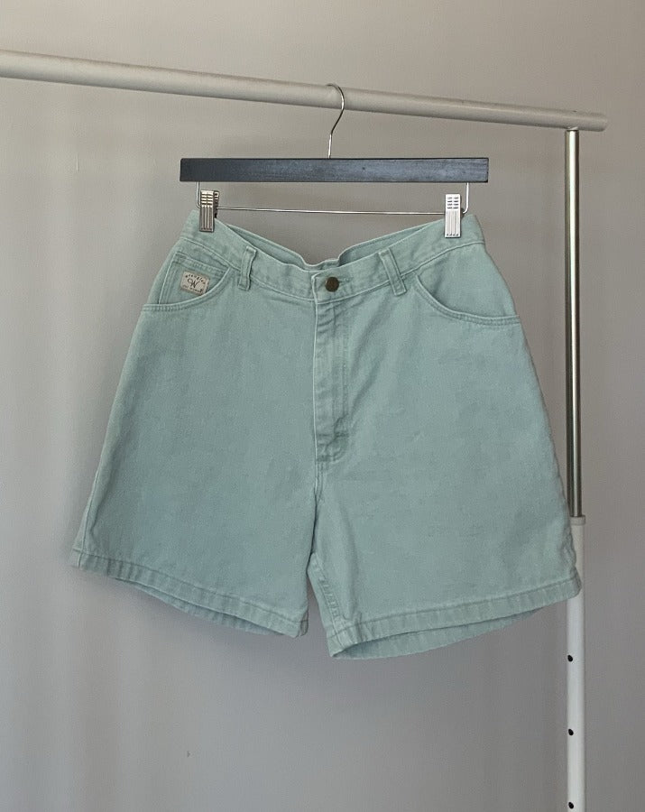 Ocean Blue Vintage Denim Shorts