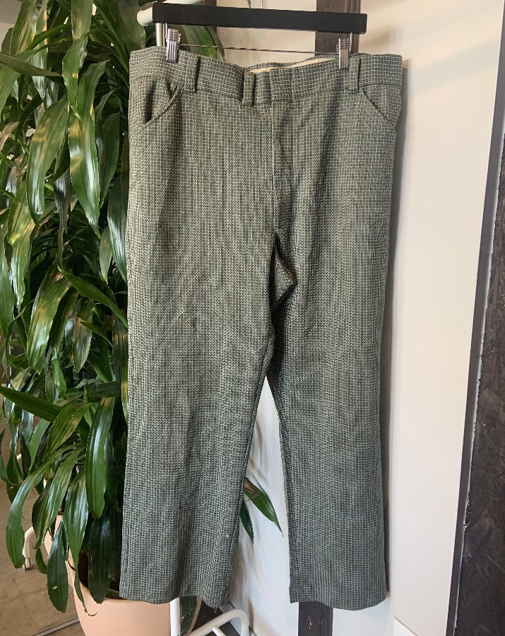 Vintage Green and White Plaid Pants