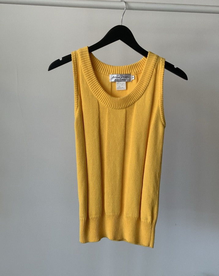 Vintage Yellow Sleeveless Sweater