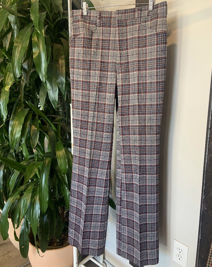 Vintage Grey Plaid Pants