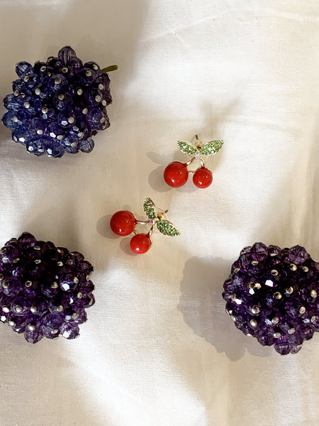 Cherry Magic Stud Earrings - SISTER LB
