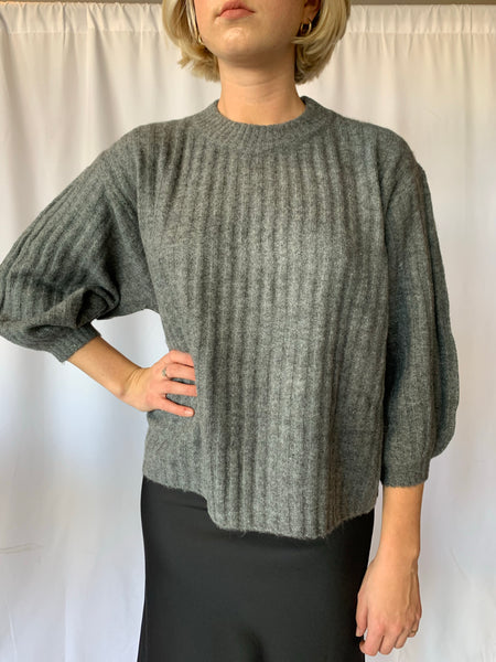 Charcoal Thick Ribbed Sweater