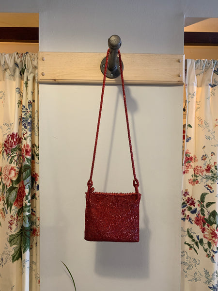 Red Vintage Beaded Bag