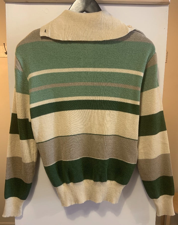 Vintage Stripe Collared Sweater