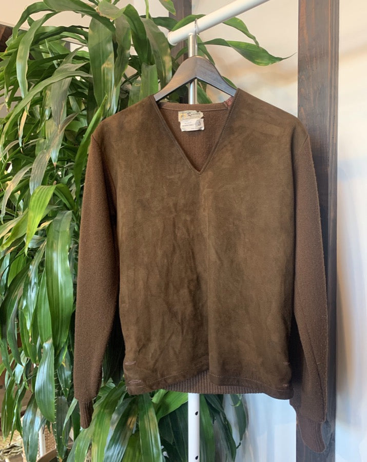 Vintage Leather Bodice Sweater