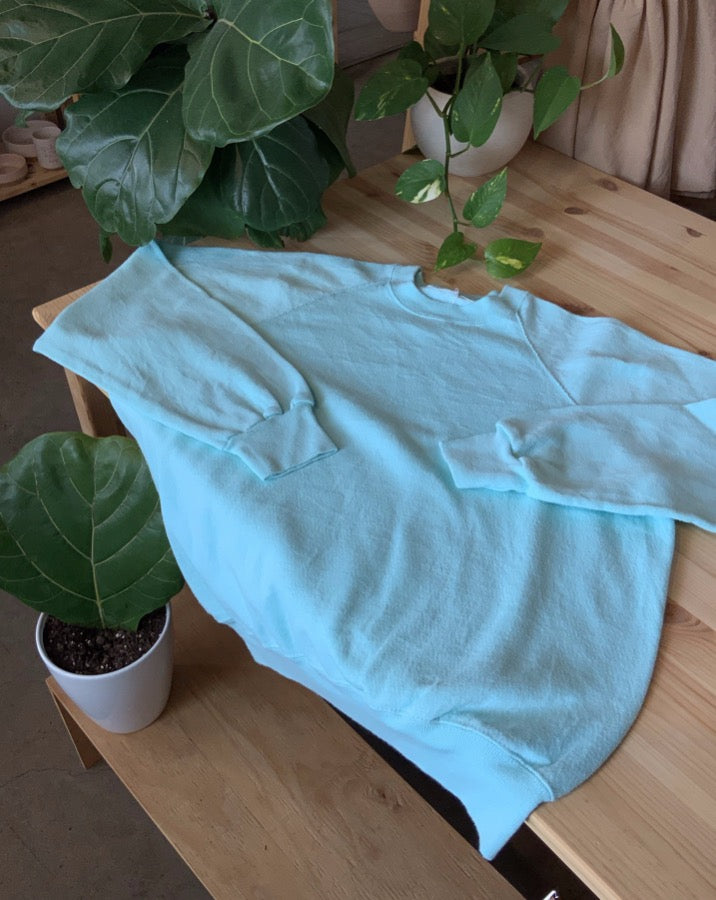 mint green vintage crewneck sweatshirt  Edit alt text