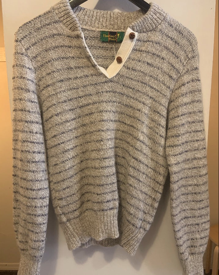 Vintage Grey Sweater Henley