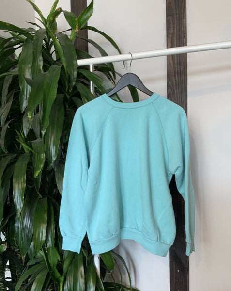 mint green vintage crewneck sweatshirt