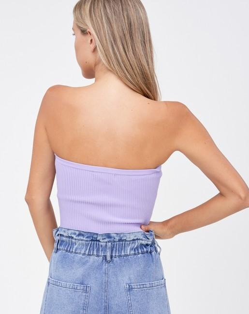 Lavender Mandi Ribbed Tube Top