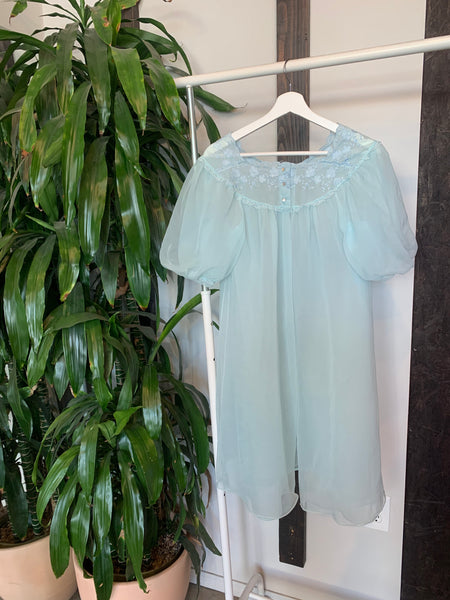 Vintage Light Blue Nightie