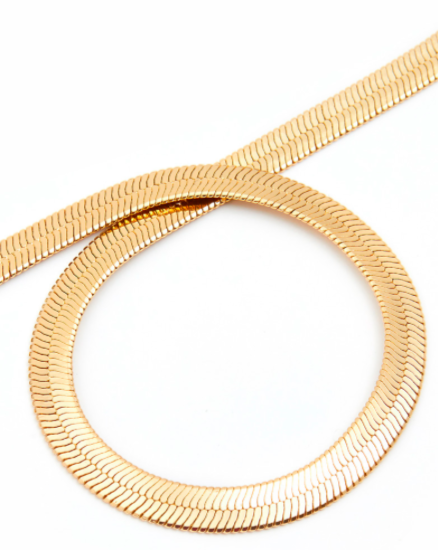 Muriel Gold Face Mask Chain