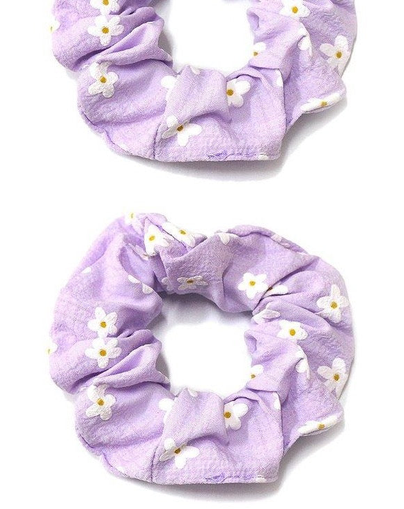 Orchid Daisy Scrunchie