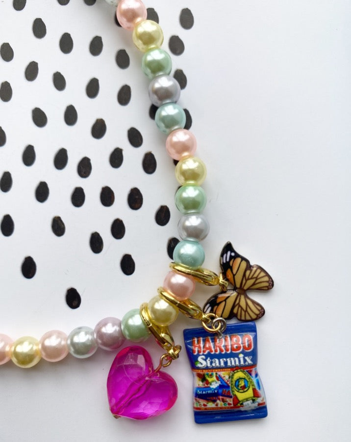 Pastel Gummy Butterfly Necklace