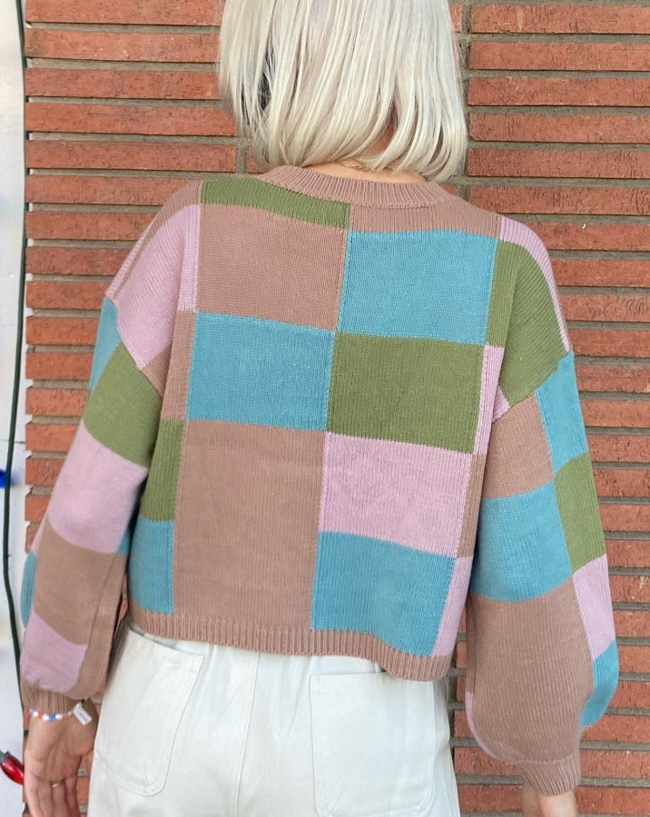 Preston Color Check Sweater
