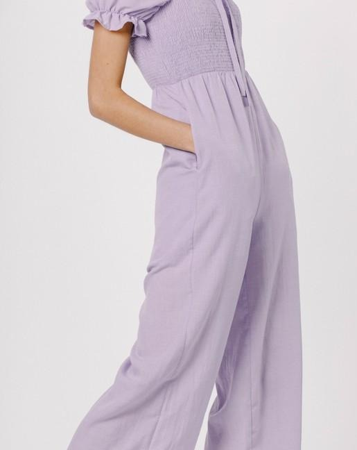 Orchid Puff Sleeve Jumpsuit