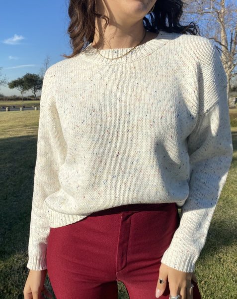 Rainbow Speckle Sweater