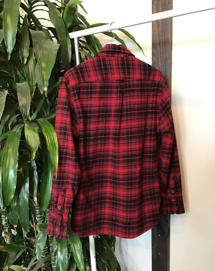 Red and Black Plaid Jachs Flannel