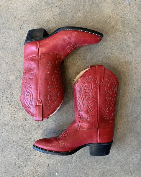 Vintage Red Cowboy Boot