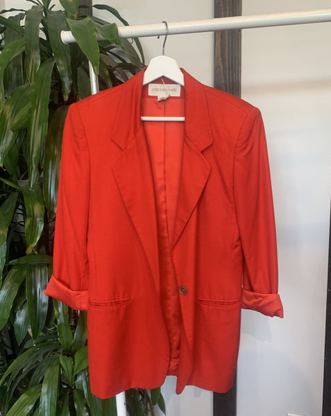 Vintage Bright Red Blazer