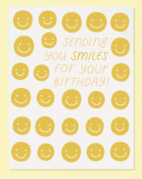 Sending Smiles Birthday Card