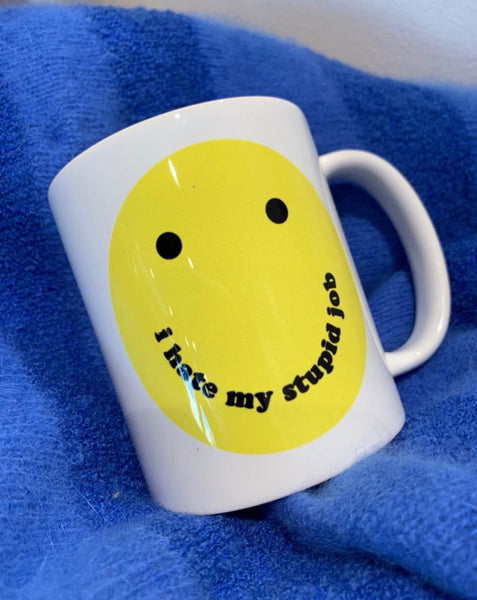 Smiley Stupid Job Coffee Mug