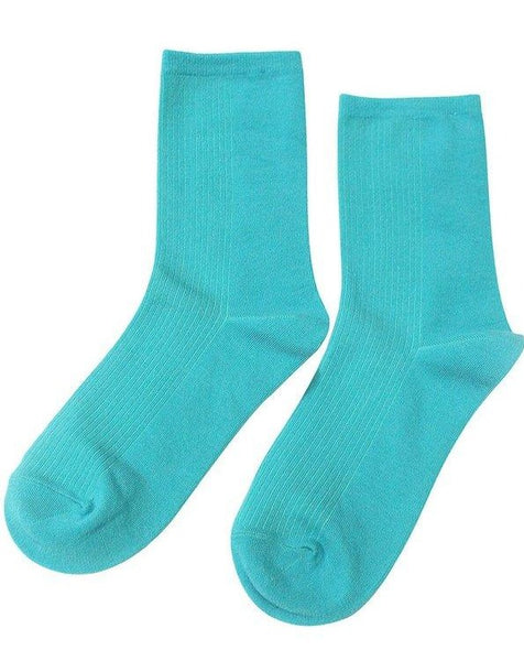 Solid Teal Socks