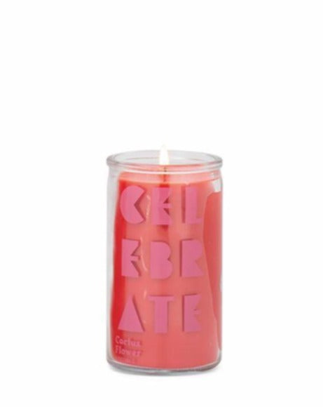 "SPARK 5 OZ RED ""CELEBRATE"" PRAYER CANDLE - CACTUS FLOWER - SISTER LB"