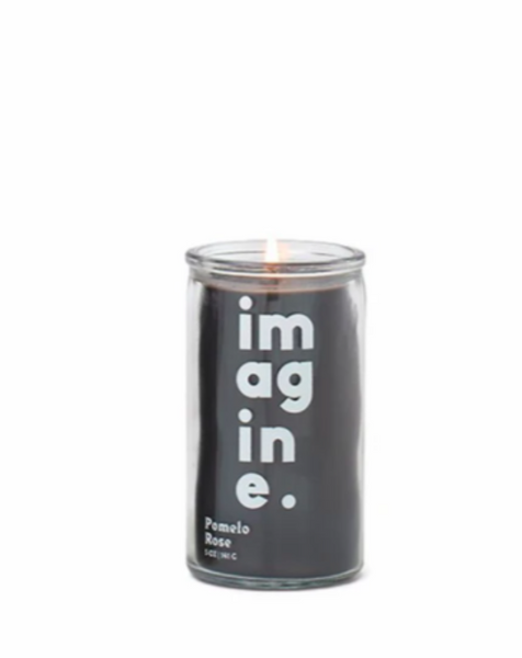"SPARK 5 OZ BLACK ""IMAGINE"" PRAYER CANDLE - POMELO ROSE - SISTER LB"