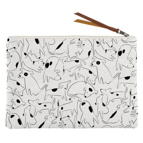 NOSEY DOG SPOT MED CANVAS POUCH - SISTER LB