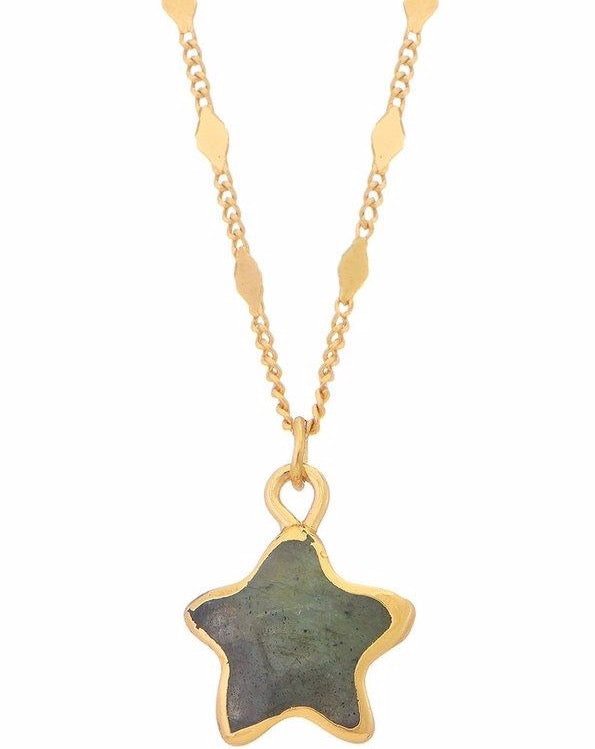 Star Labradorite Heart Necklace