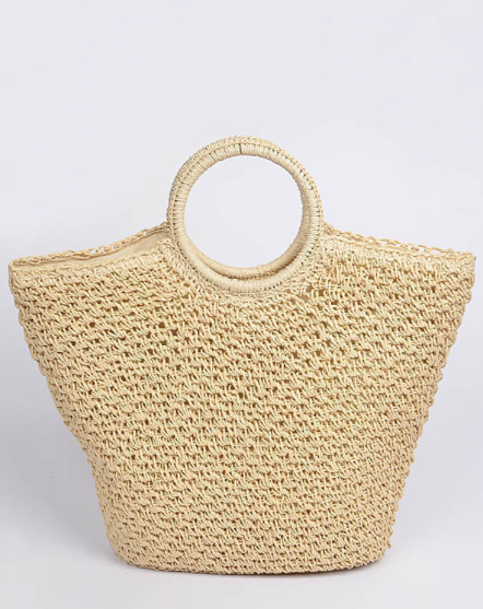 Straw Cadie Bag