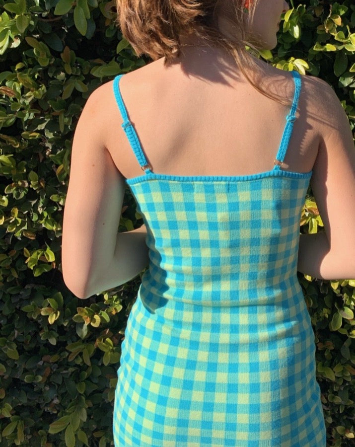 Teal Frejya Check Dress