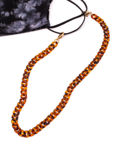 Tortoise Chain Link Face Mask Chain