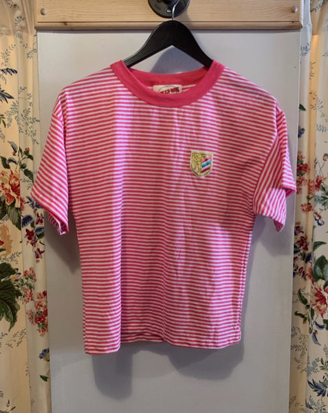 Vintage Prep Pink Striped Tee