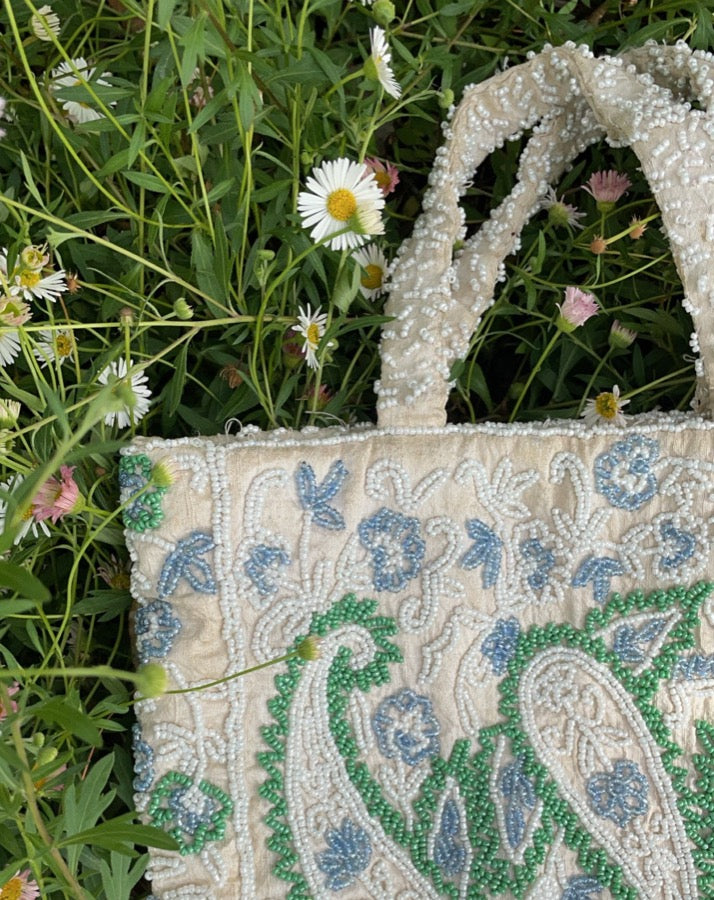Vintage Beaded Paisley Vintage Bag