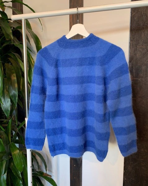 Vintage Blue Striped Sweater