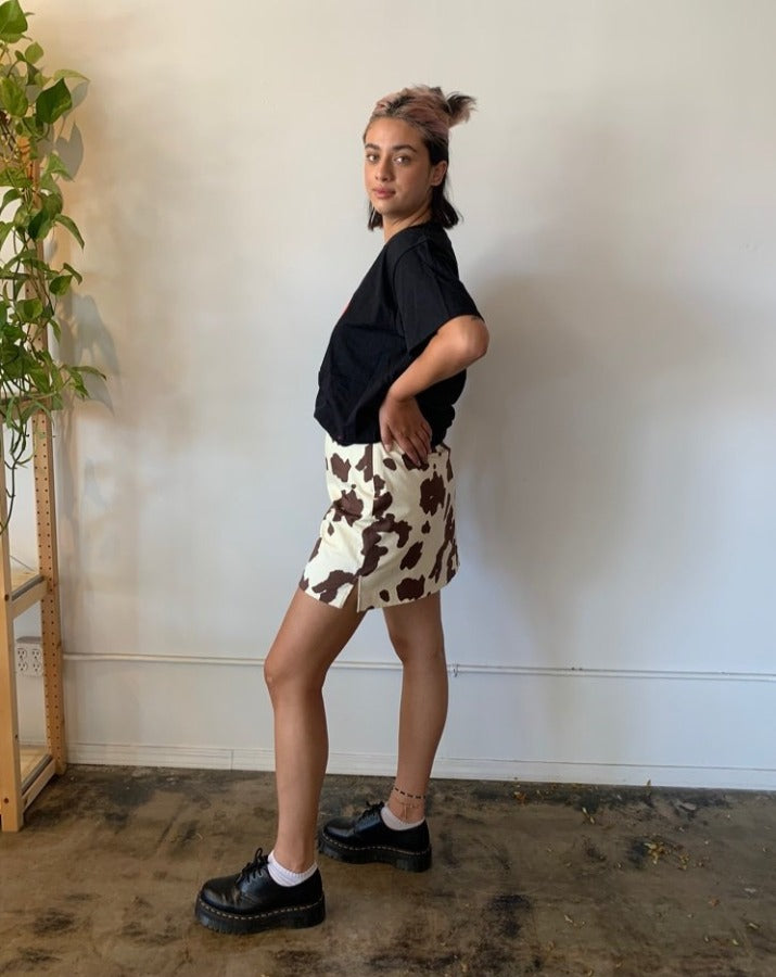 Mini Brown Cow Skirt