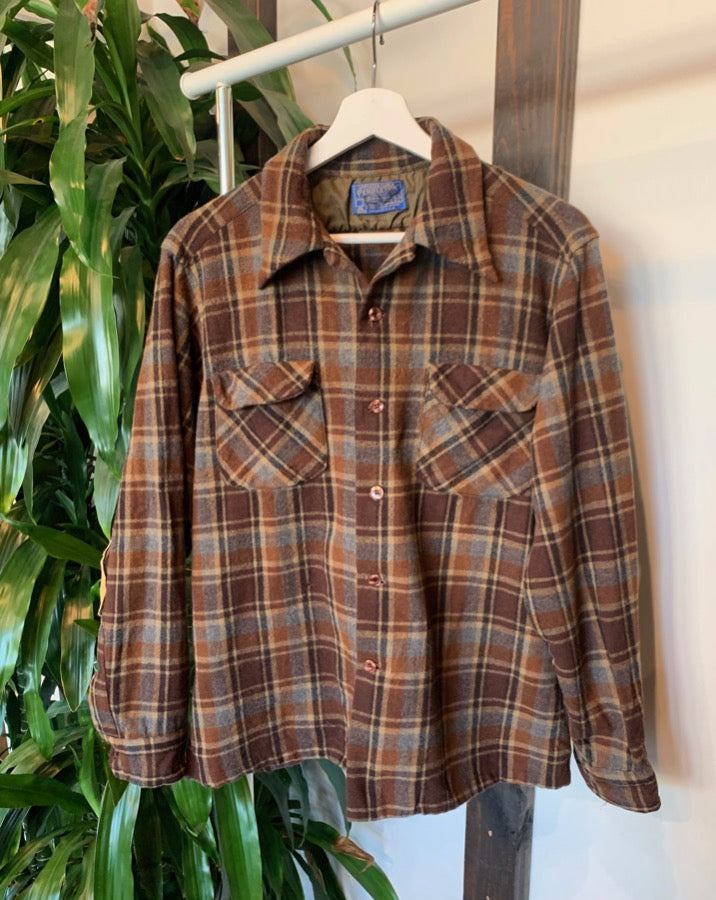 Vintage Brown Plaid Pendelton