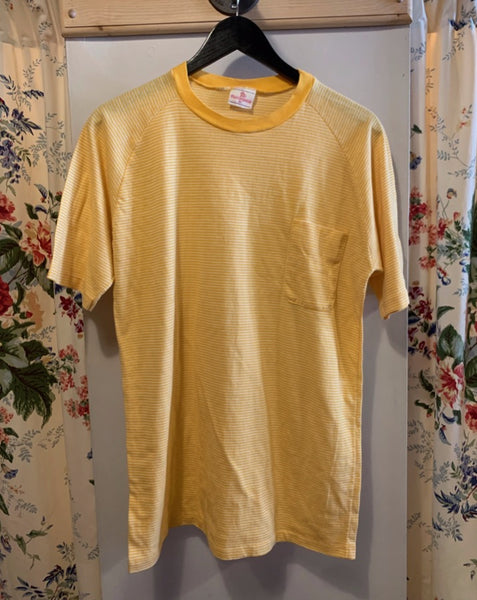 Vintage Gold Striped Tee