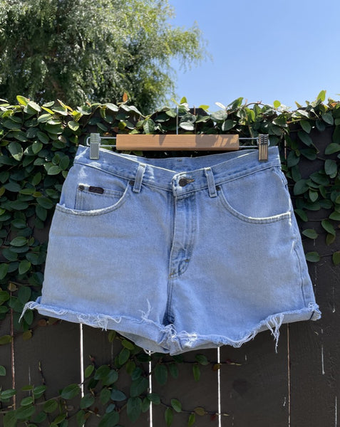 Vintage Light Wash Lee Denim Shorts