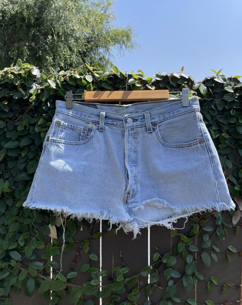 Vintage Light Wash Levi's Denim Shorts