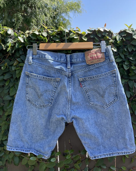 Vintage Clean Hem Long Levi's Denim Short