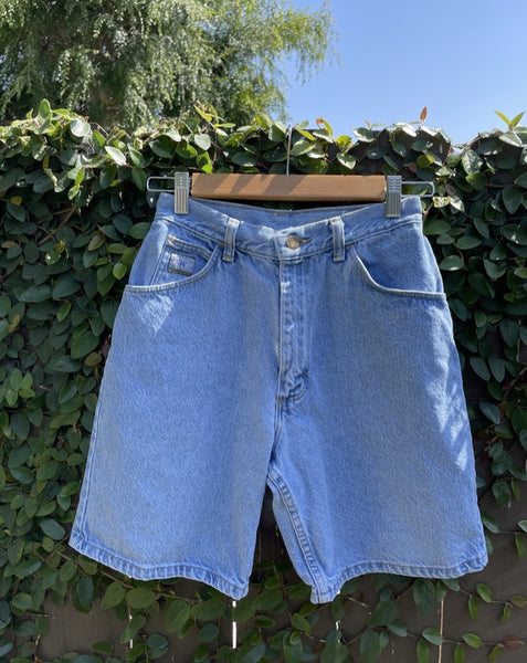Vintage Clean Hem Long Wranglers Denim Short