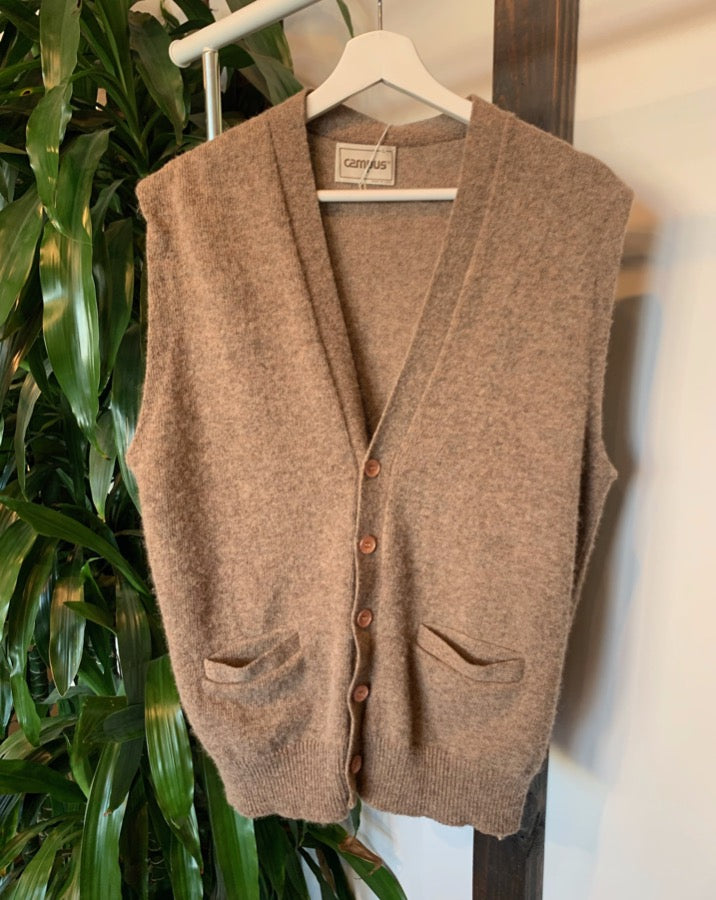 Vintage Button Front Sweater Vest