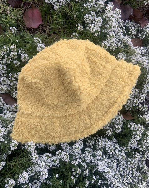 Fuzzy Teddy Bucket Hat