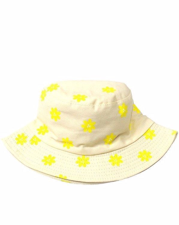 Natural Printed Daisy Bucket Hat
