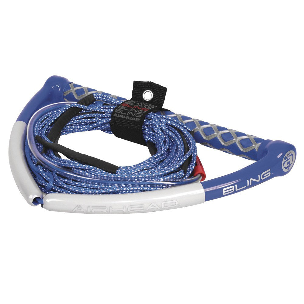 AIRHEAD Bling Spectra Wakeboard Rope - 75' 5-Section - Blue