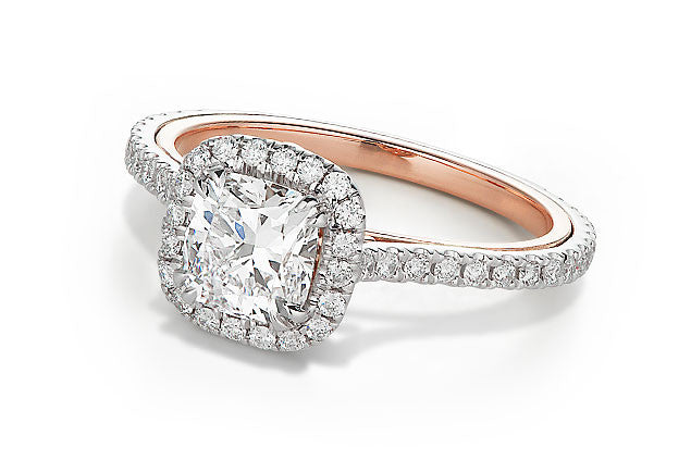 Open Scroll Engagement Ring
