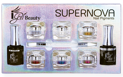 SUPERNOVA Nail Pigments Chrome Kit - iGel Beauty