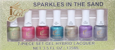 iGel SPARKLES IN THE SAND 7-Piece Set Gel-Hybrid Lacquer - iGel Beauty